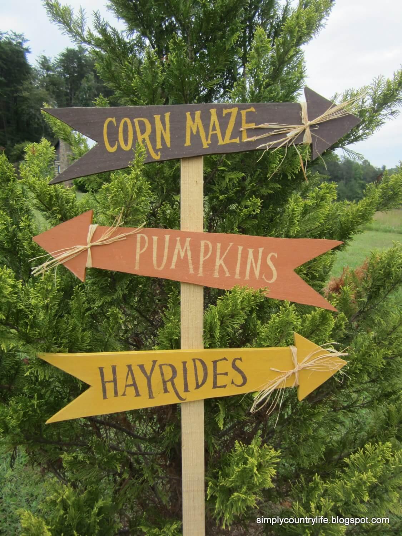 Fall Festivities Fun Decorative Direction Sign