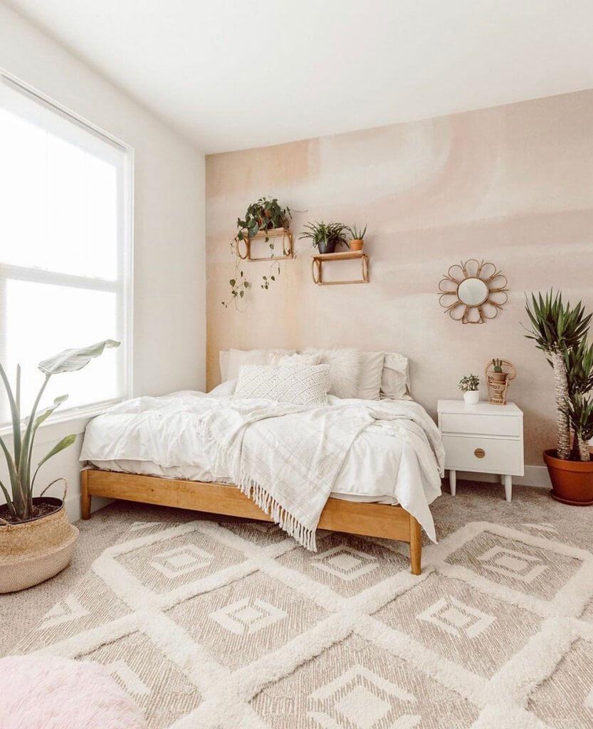 Beautiful Soft Tawny Mural Wall Design