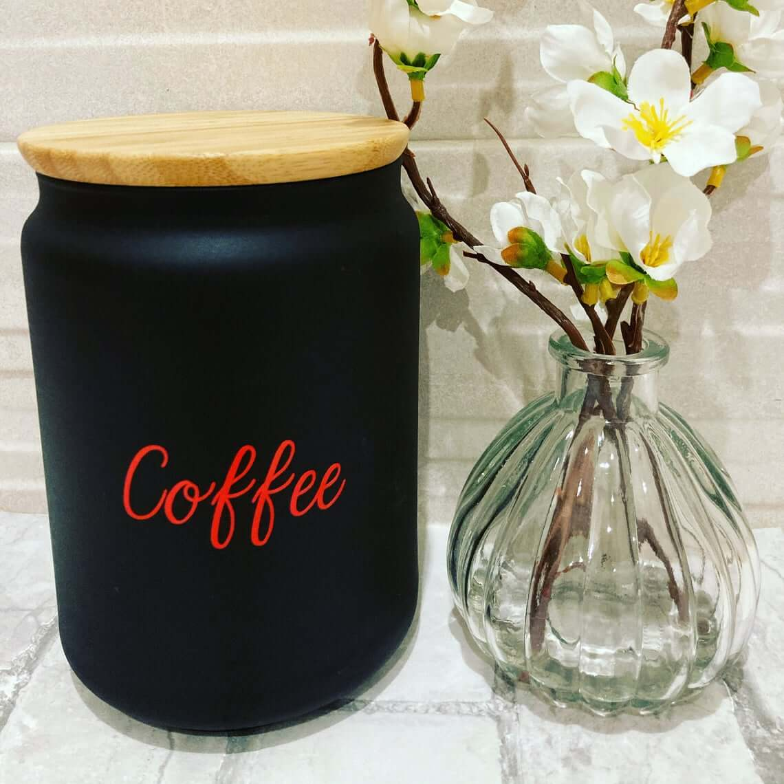 Matte Black Large Coffee Canister