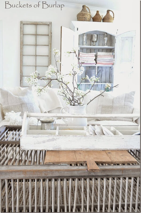 Rustic, Wooden Crate Coffee Table