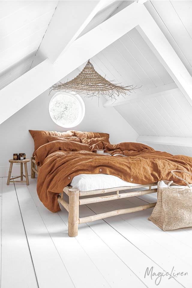 Cinnamon Linen Duvet Cover Set