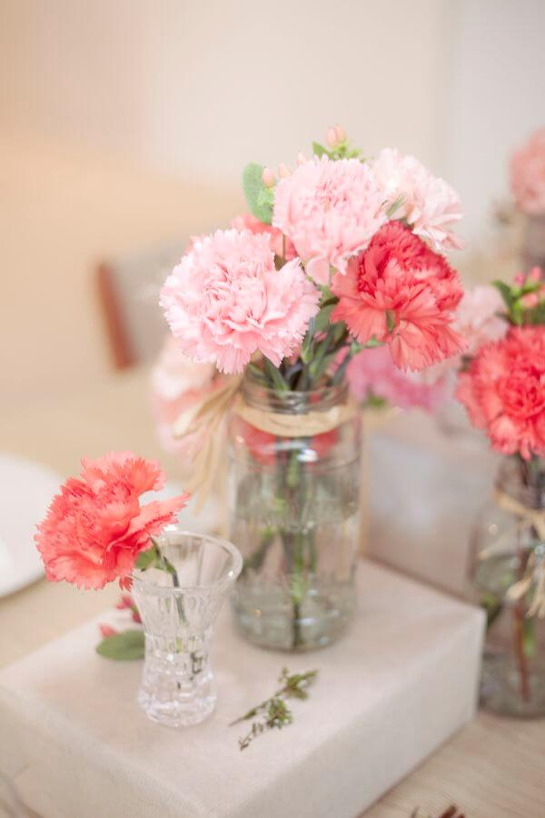 All Things Pink Blossoming Floral Table Decor