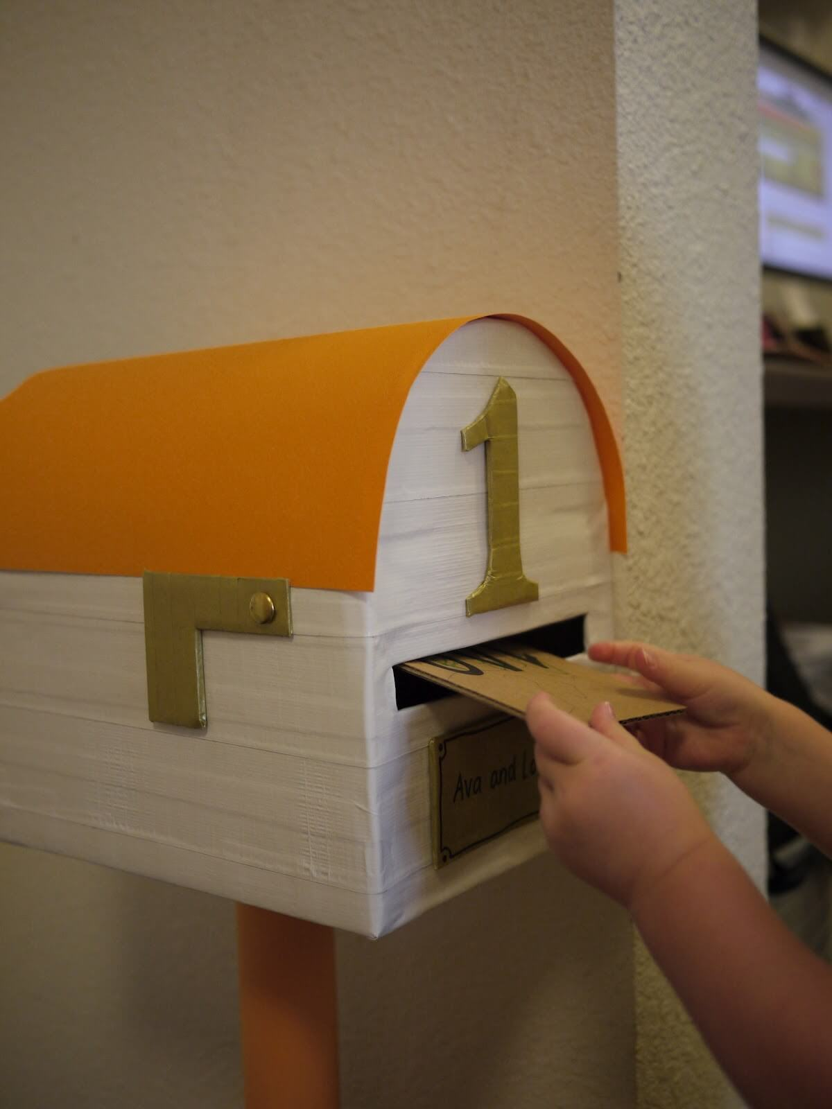 Homemade Child Sized Toy Mailbox