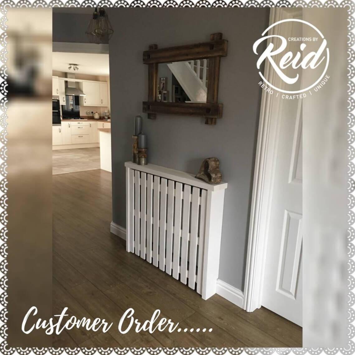 Rustic Handmade Wooden Radiator Cover