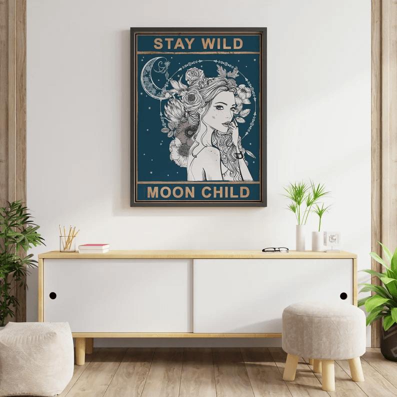 Stay Wild Moon Child Wall Art