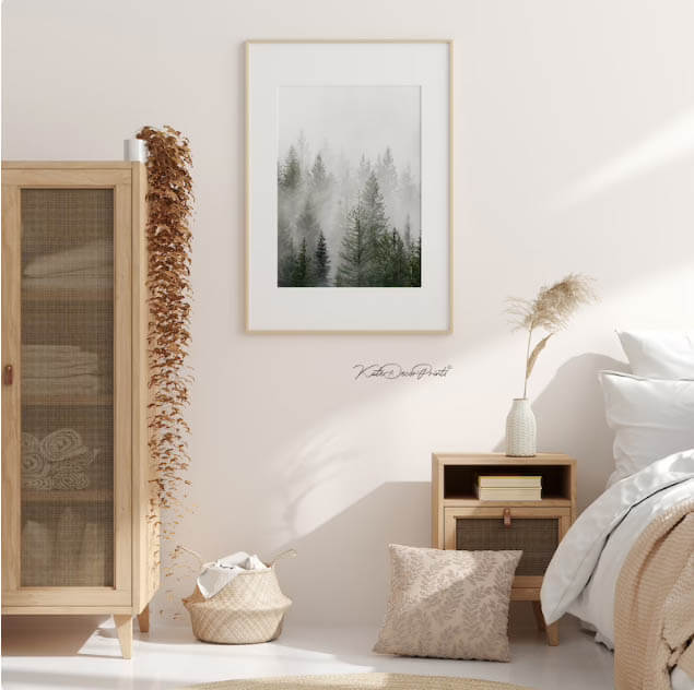 Set of 3 Forest Print