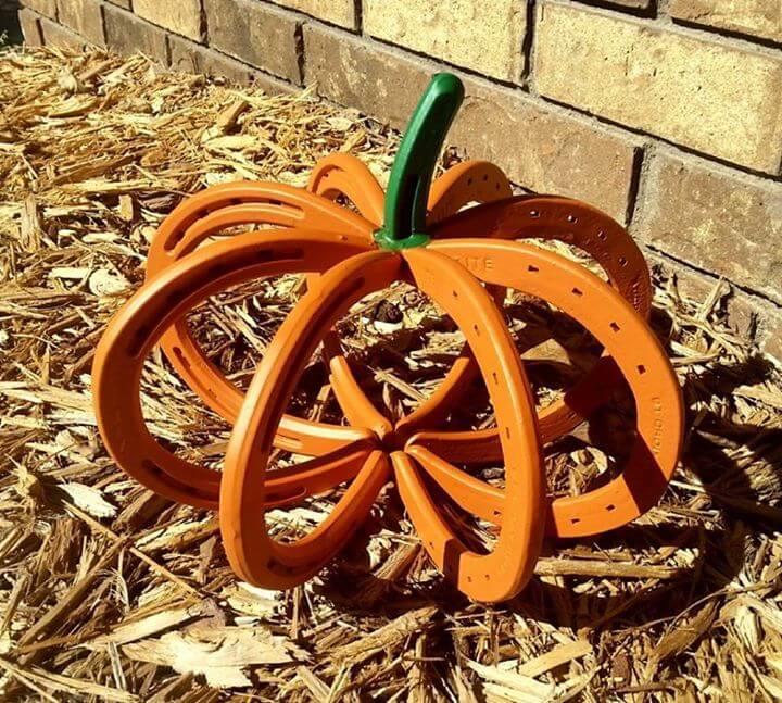 Darling Little Horseshoe Pumpkin Outdoor Fall Decor