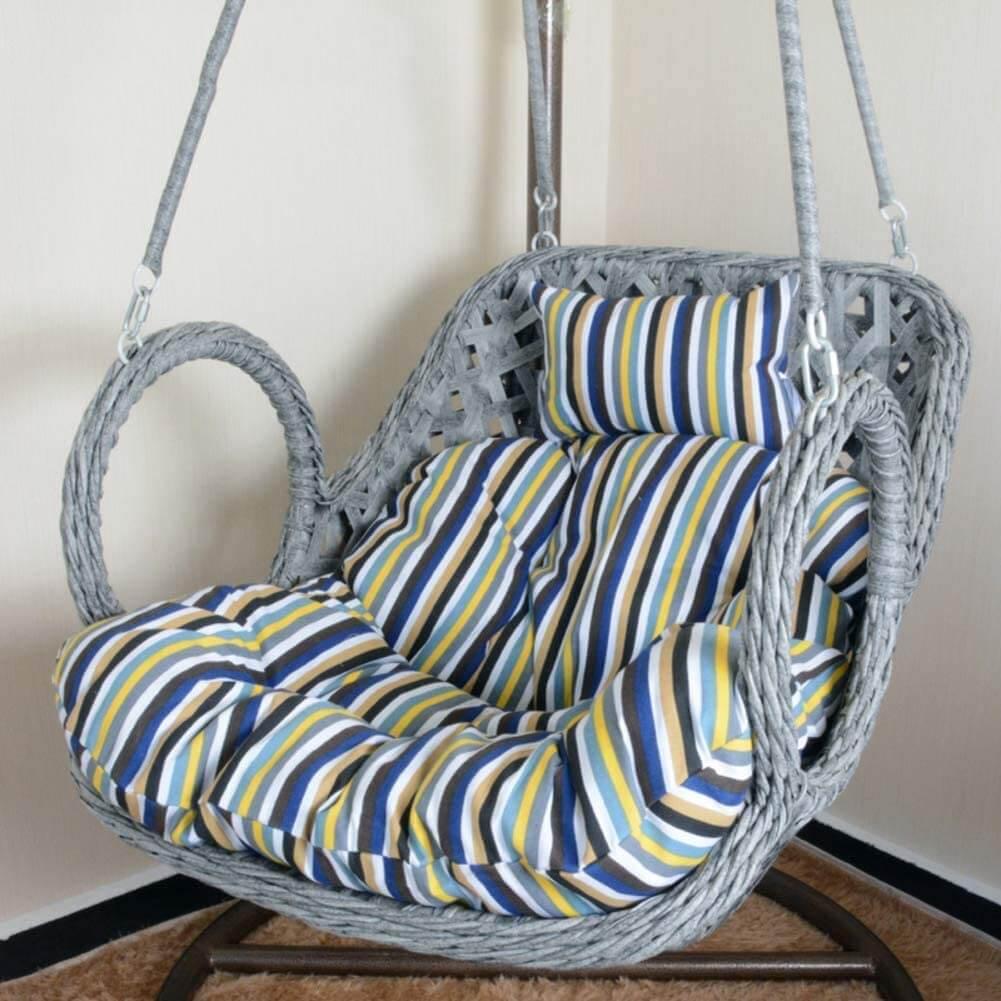 Hanging Egg Hammock Cushioned Chair