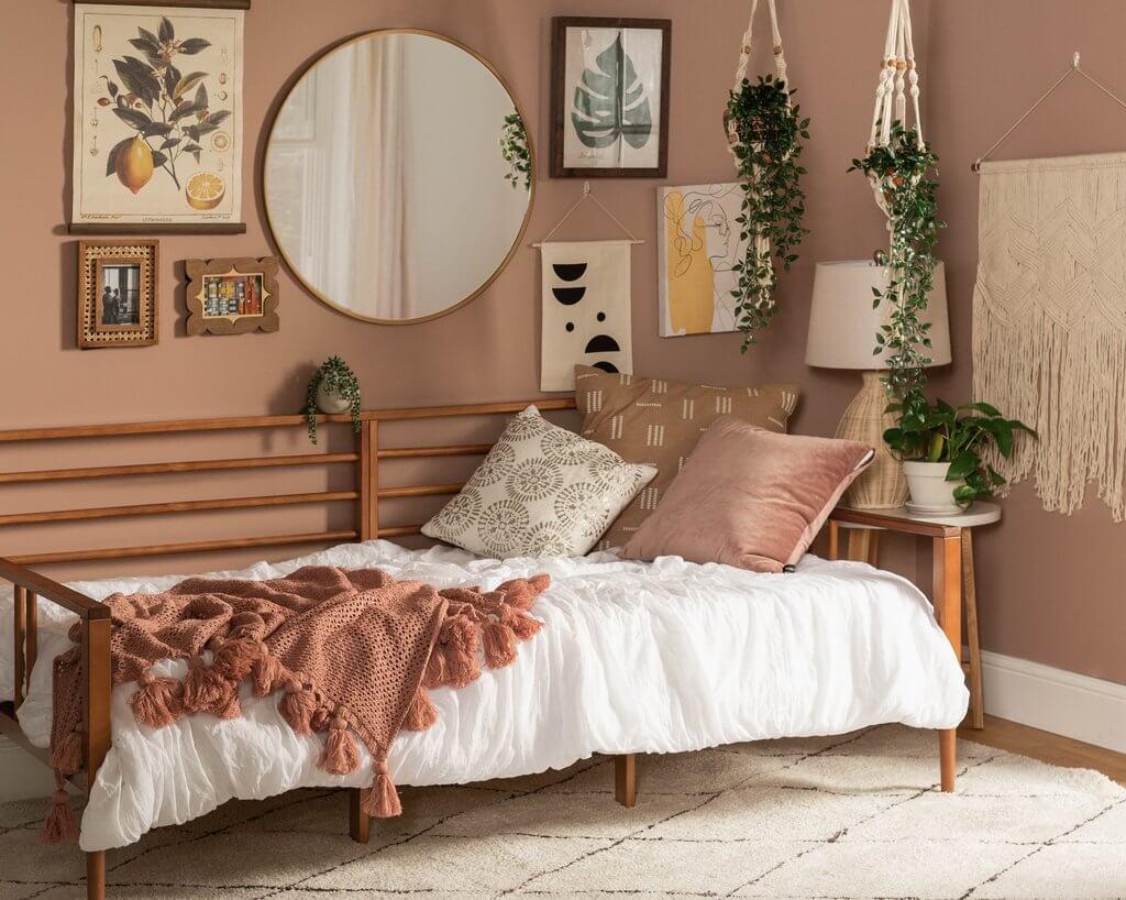 Cool Natural Boho Scandi Bedroom