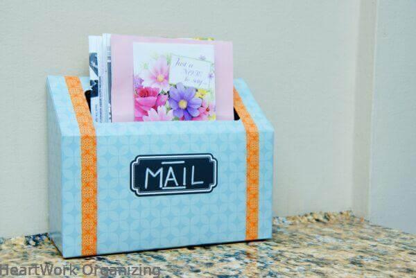 Easy Upcycled DIY Mail Holder