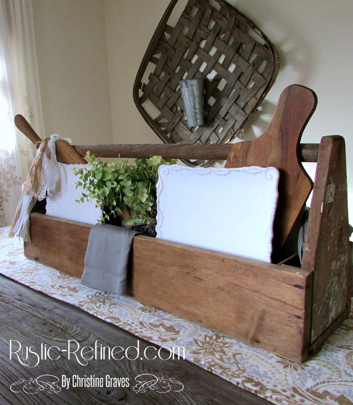 Countryside Farmhouse Table Centerpiece Cubby