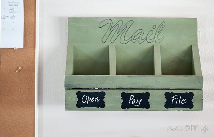 Simple DIY Wall Mail Organizer