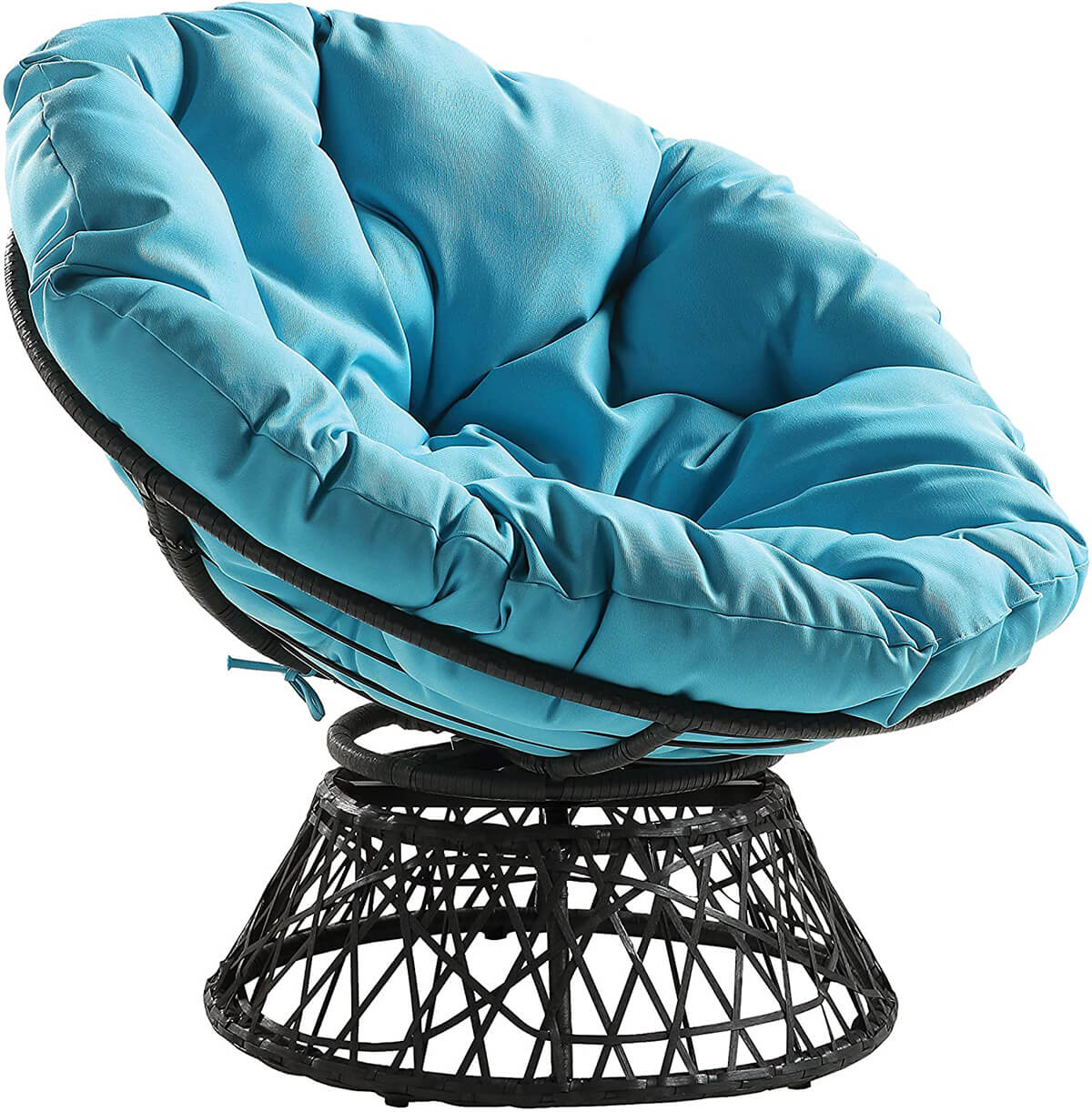 Cool Wicker Papasan Swivel Chair