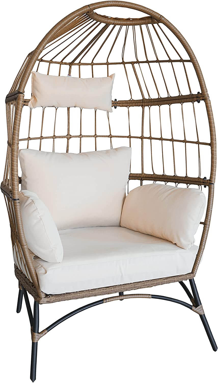 Luckyberry Wicker Egg Rattan Chair