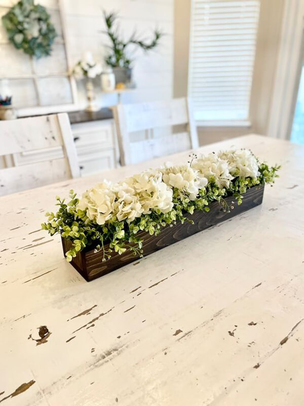Small Hydrangea Farmhouse Floral Centerpiece