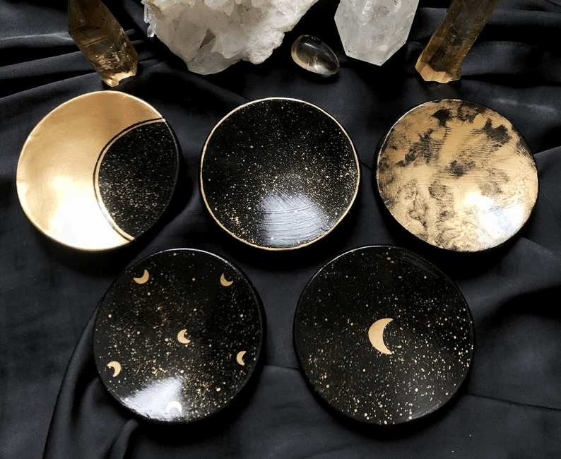 Celestial Moon Themed Clay Dishes