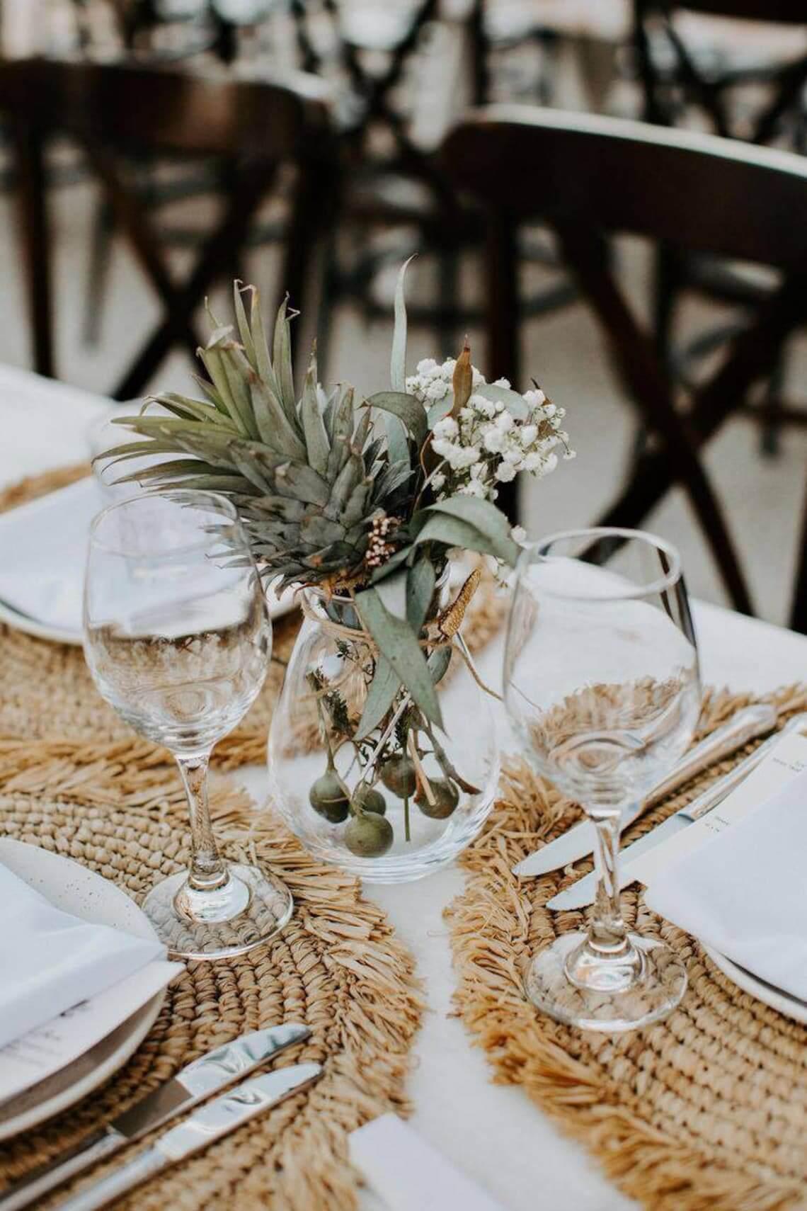 Autumn Wedding Charger Raffia Placemats
