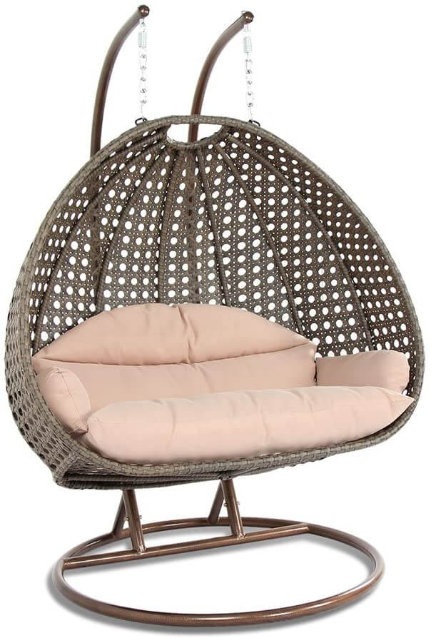 Deluxe Cushioned Hanging Swing Chair