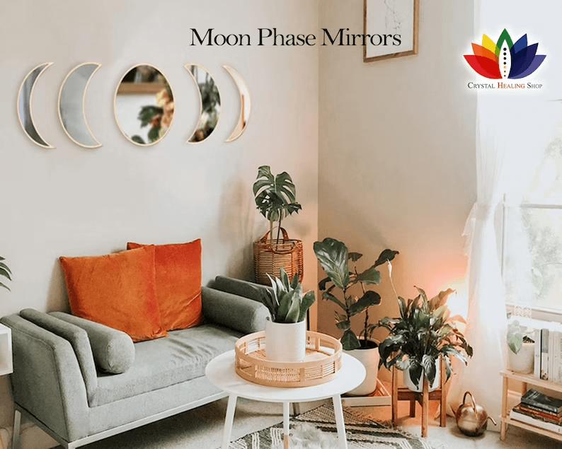 Beautiful Mirror Moon Phase Art
