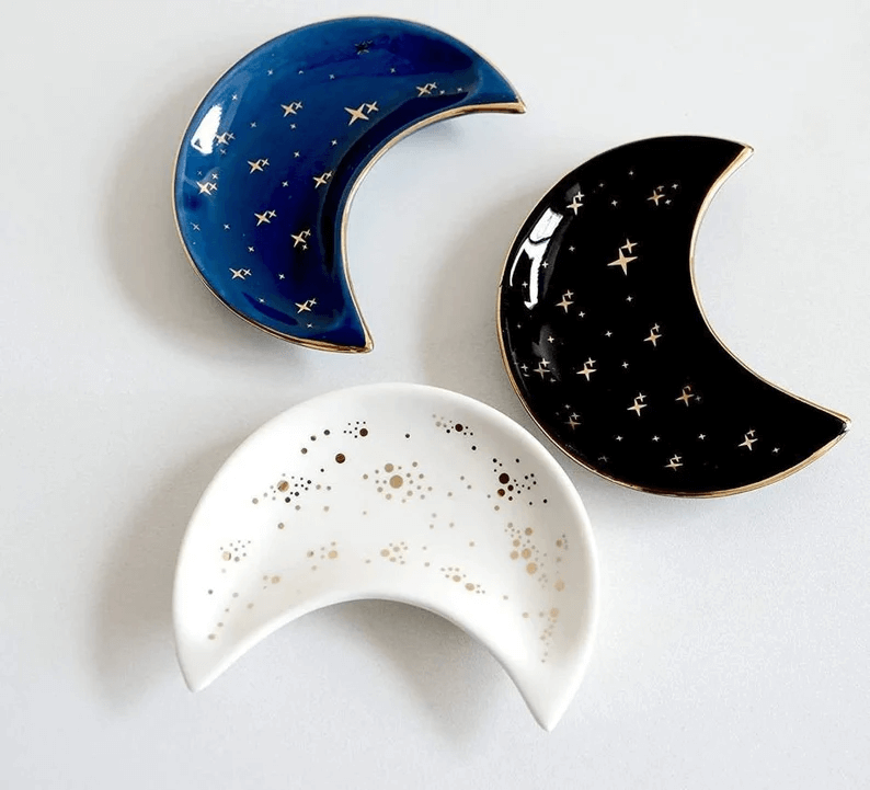 Ceramic Moon Trinket Dish Design