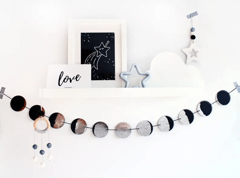 Fun and Lively Moon Phase Garland