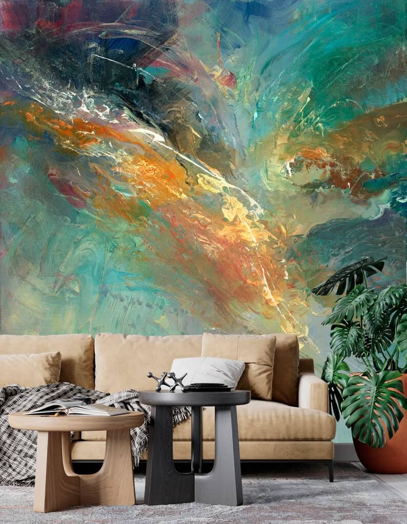 Multi-Color Abstract Wallpaper Mural