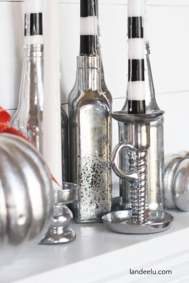Haunting Mercury Glass Halloween Candle Holders