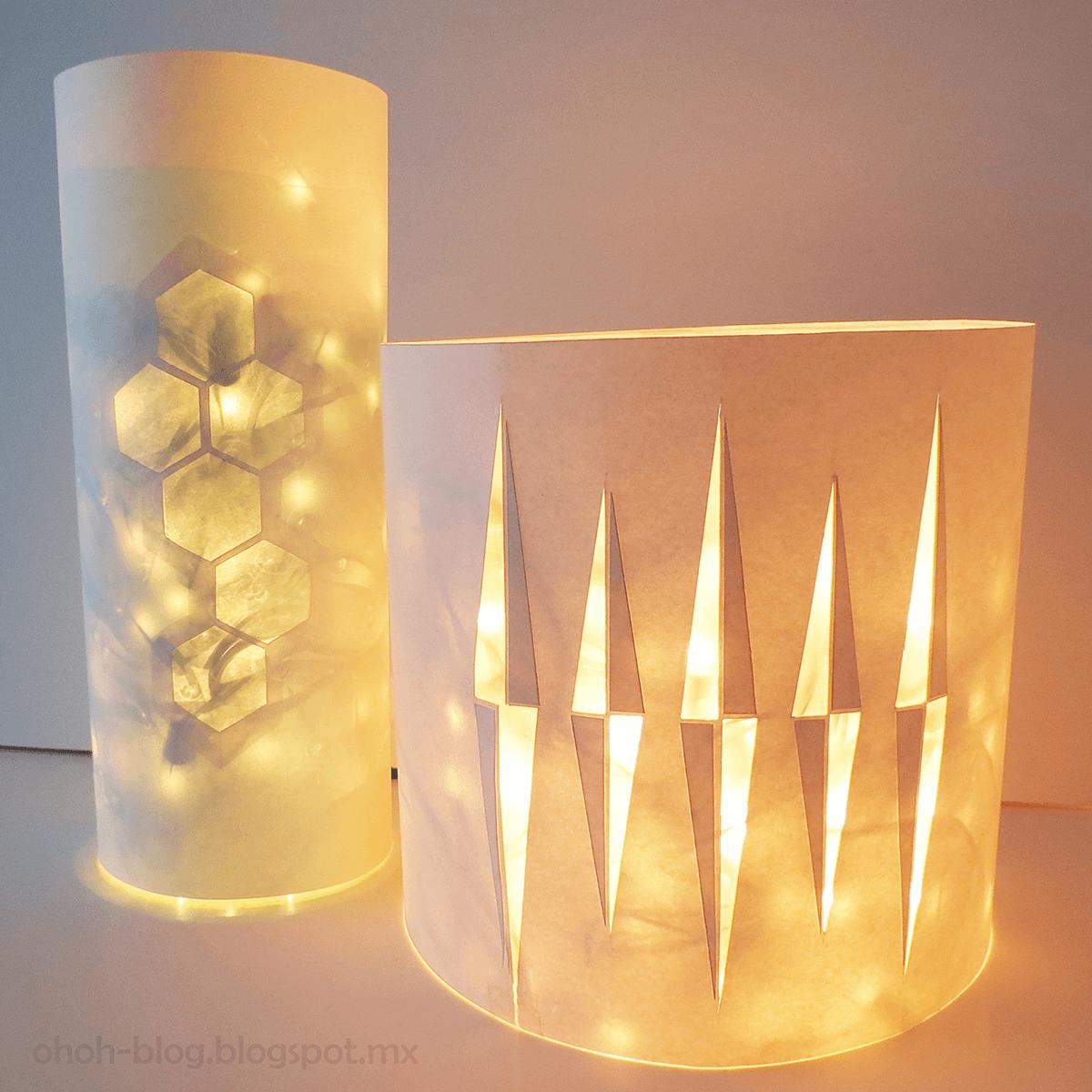 Upcycled LED Fairy Lights Lantern