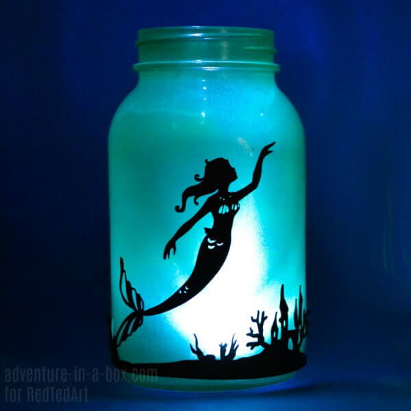 Underwater Mermaid Fairy Lights Lantern