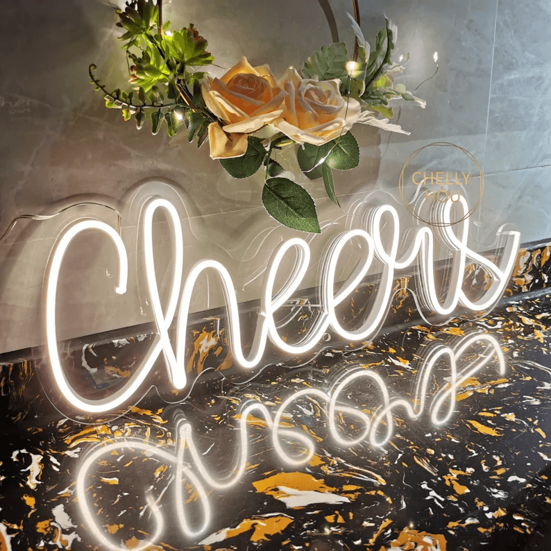 Perfect Bar Party Cheers Neon Sign