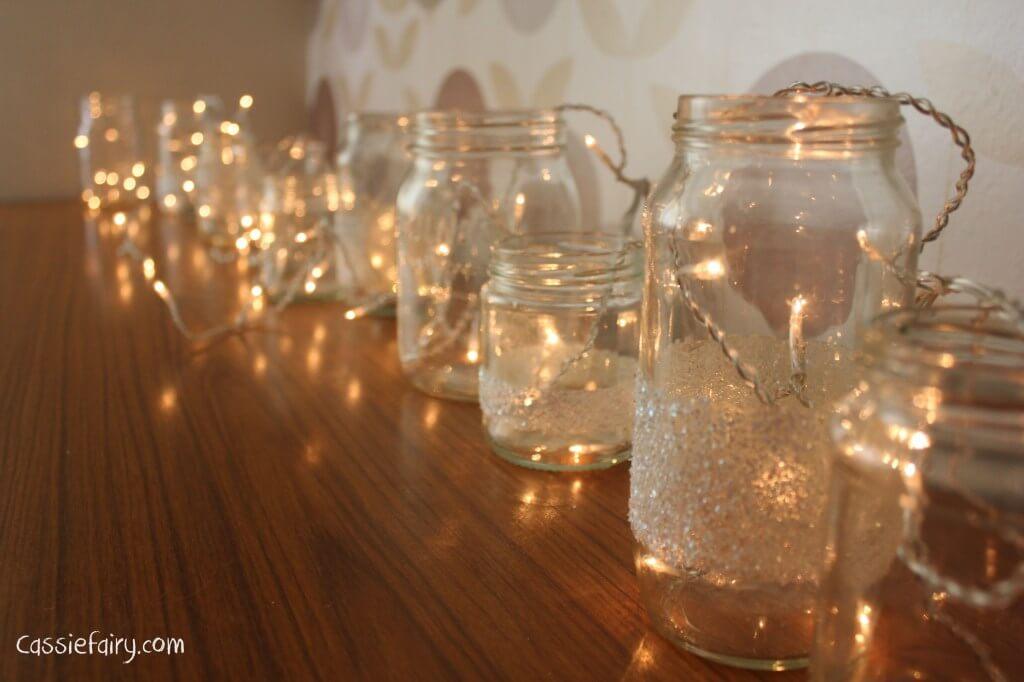 Mason Jar Fairy Lights Lamp