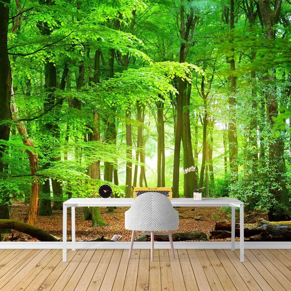 Nature Lover's Peaceful Forest Mural