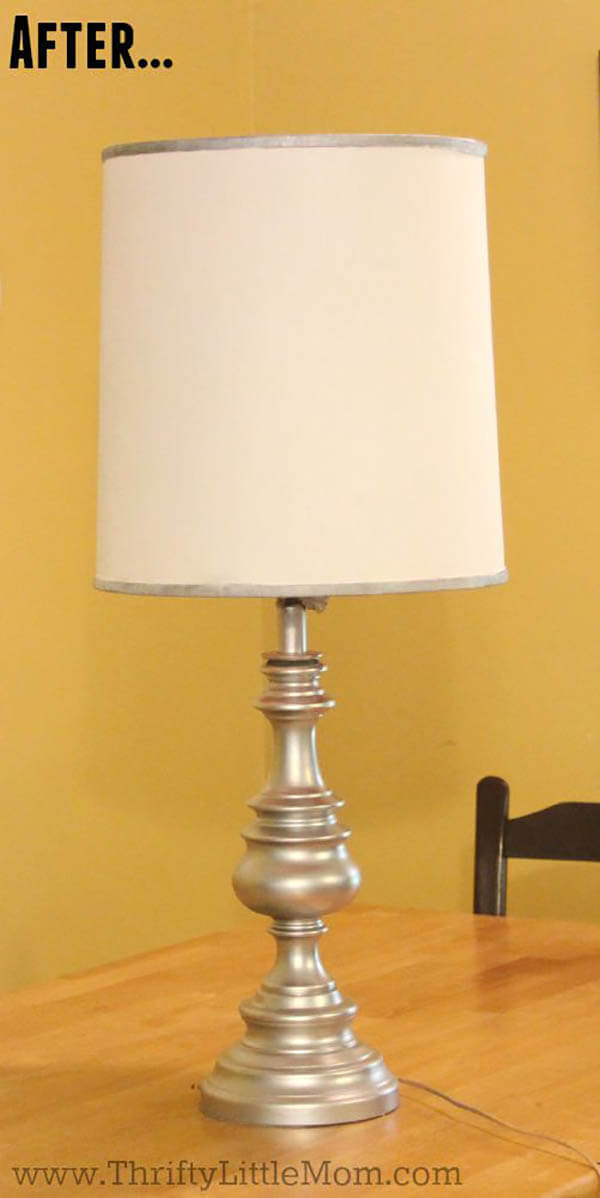 Painted Silver Lamp Upgrade Design
