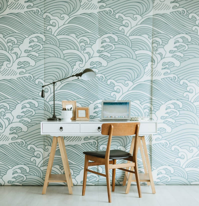 Totally Tidal Wave Wall Mural