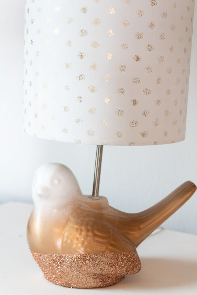Gold Ombre Lamp with a Glitter Base