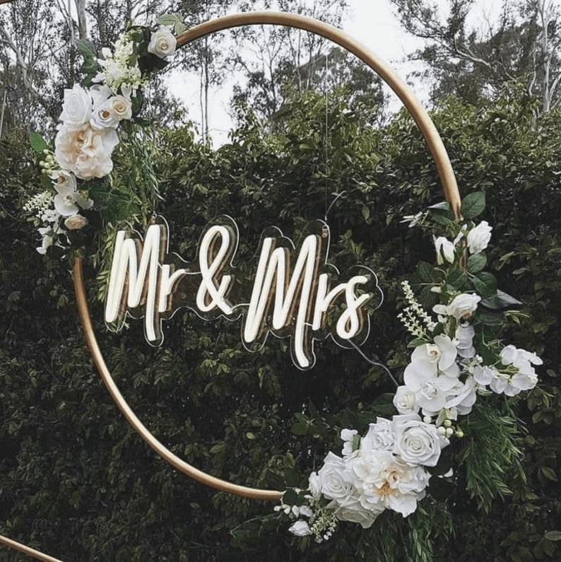 Beautiful Garden Bridal Neon Sign Decor