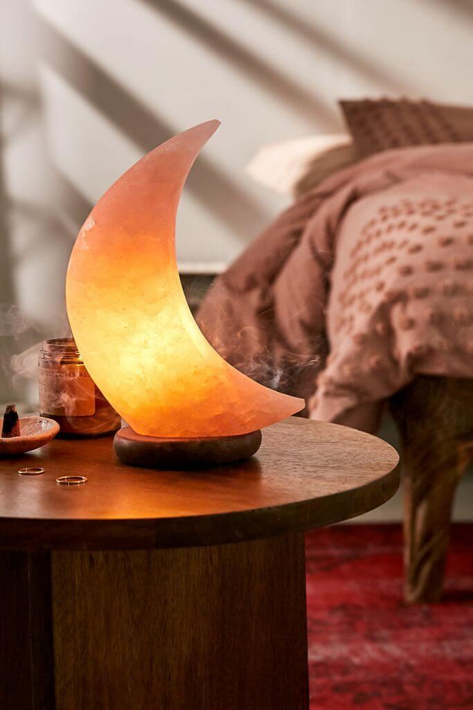 Solar Themed Moon Himalayan Salt Lamp
