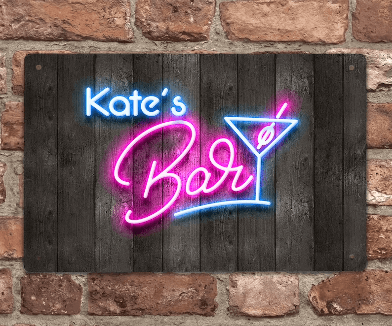 Classic Neon Bar Sign for Cocktail Hour