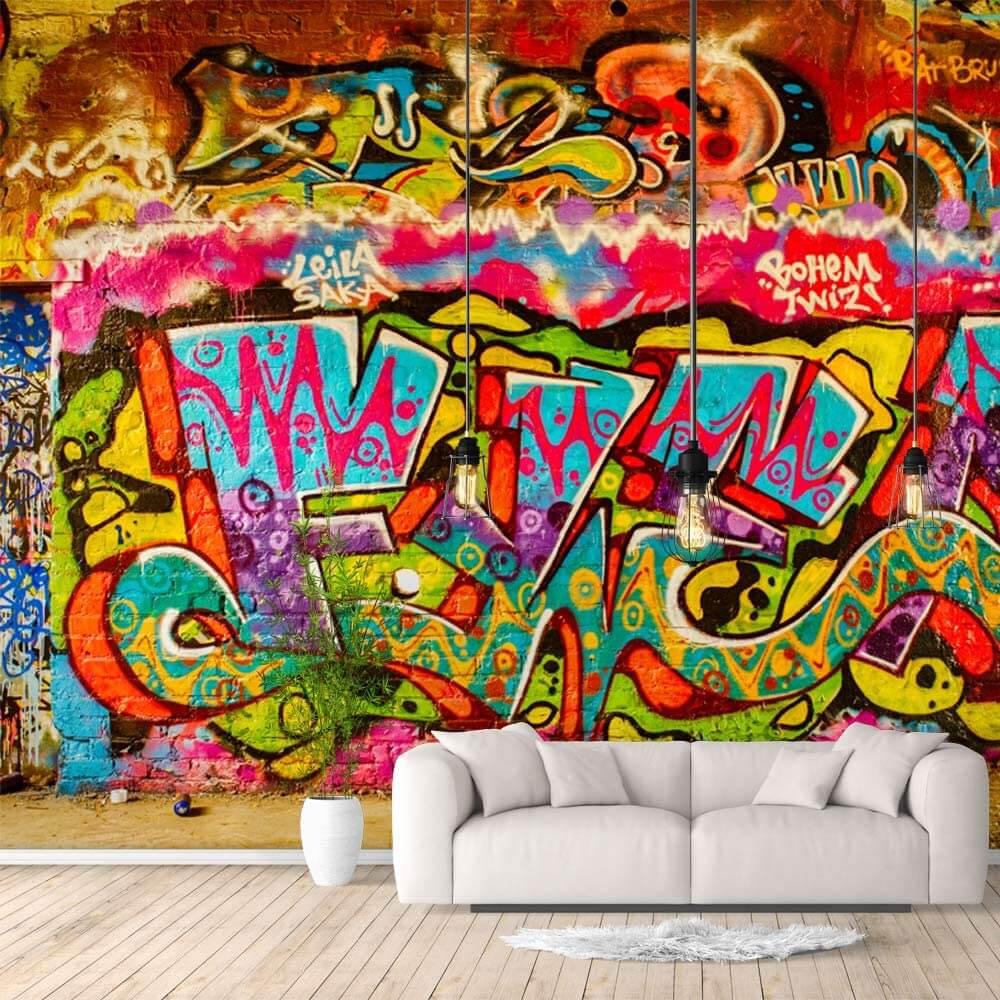 Colorful Graffiti Street Art Wallpaper Mural