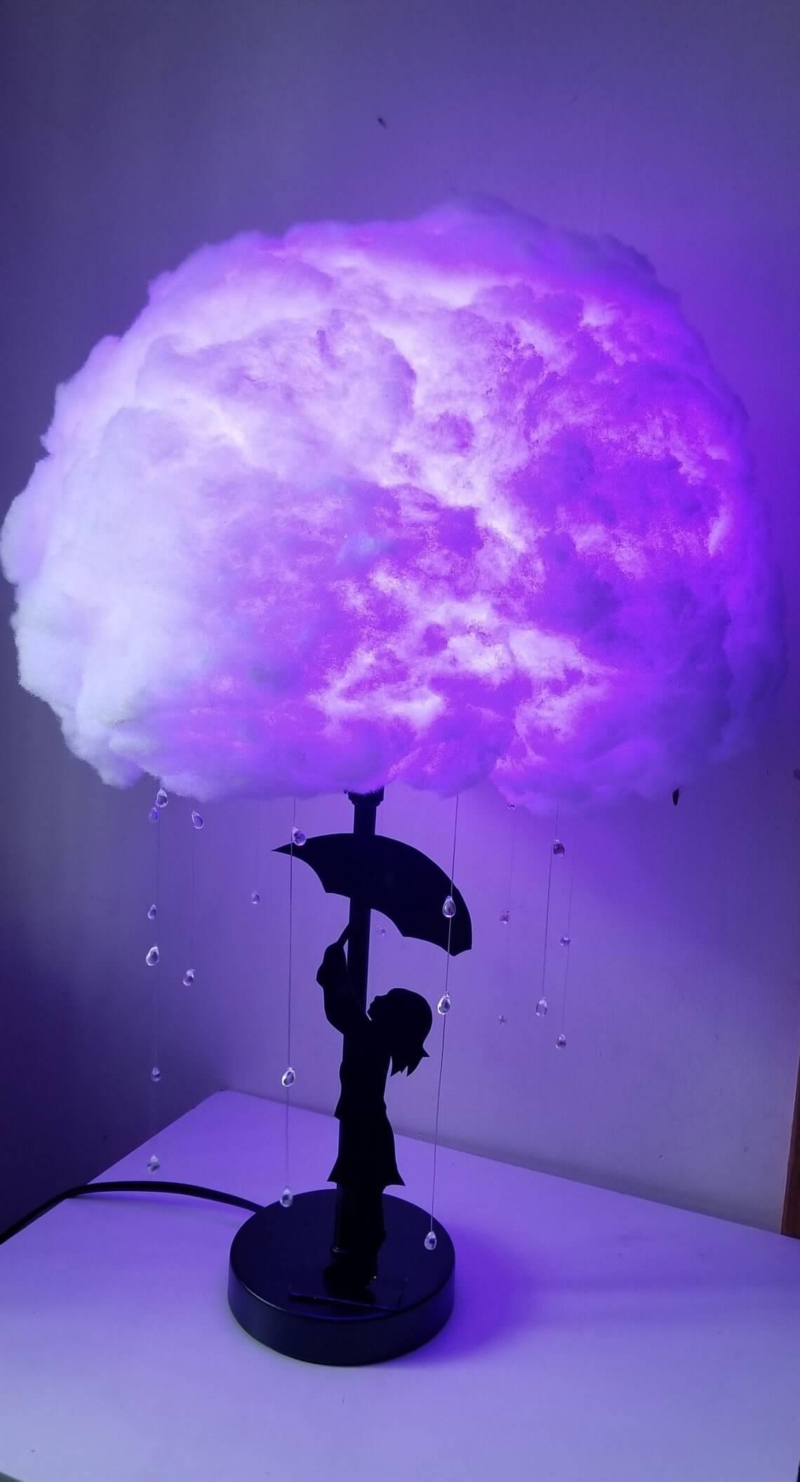 Mysterious Raincloud Table Top Lamp