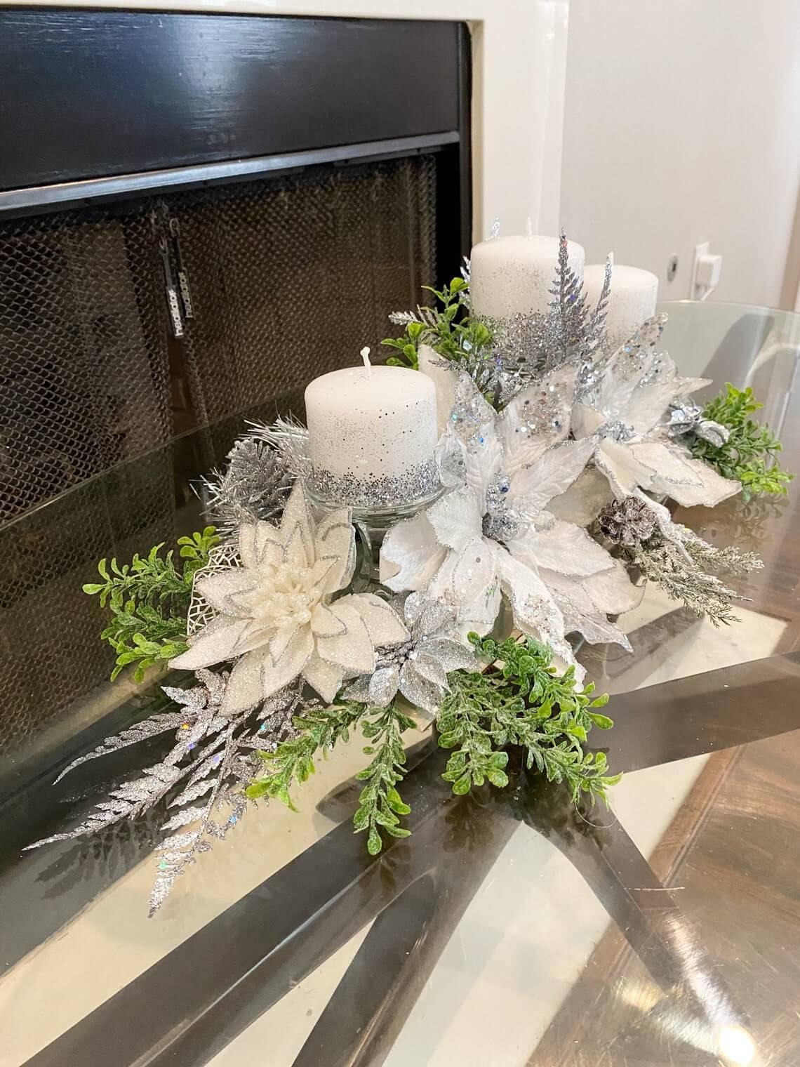Remarkable White Christmas Centerpiece Design