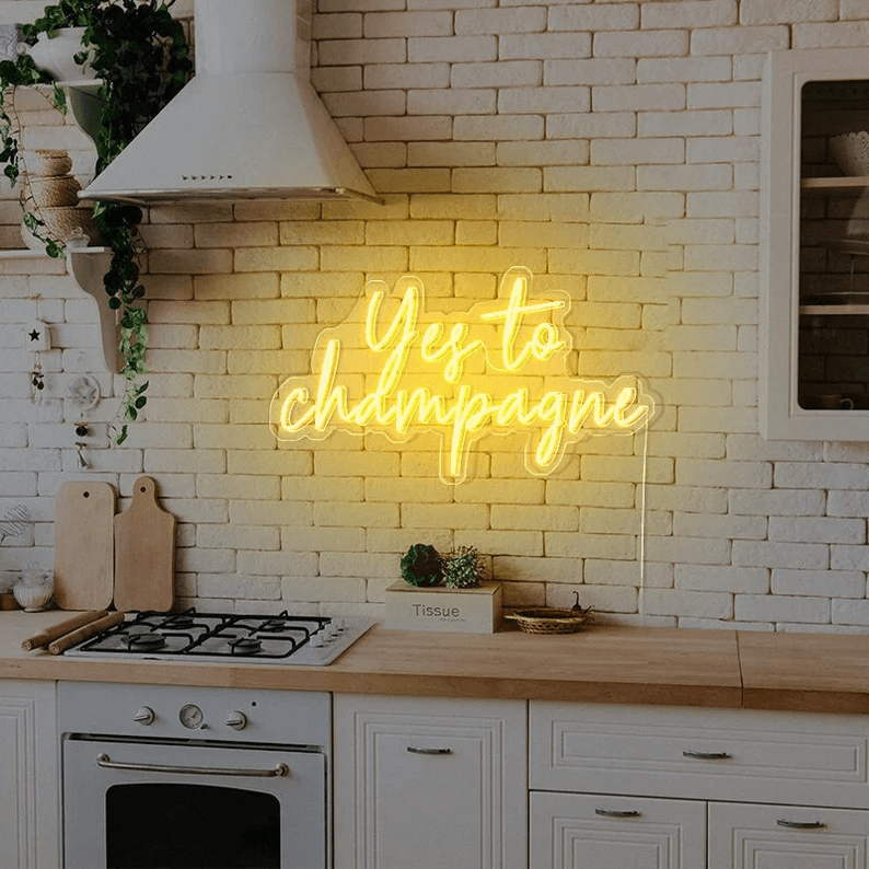 Personalized Yes to Champagne Party Sign