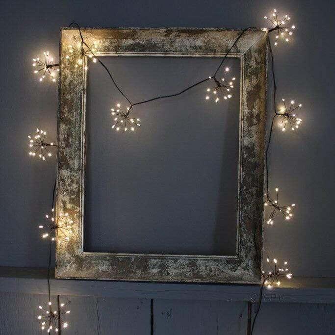 Cool Starburst Black Fairy Lights