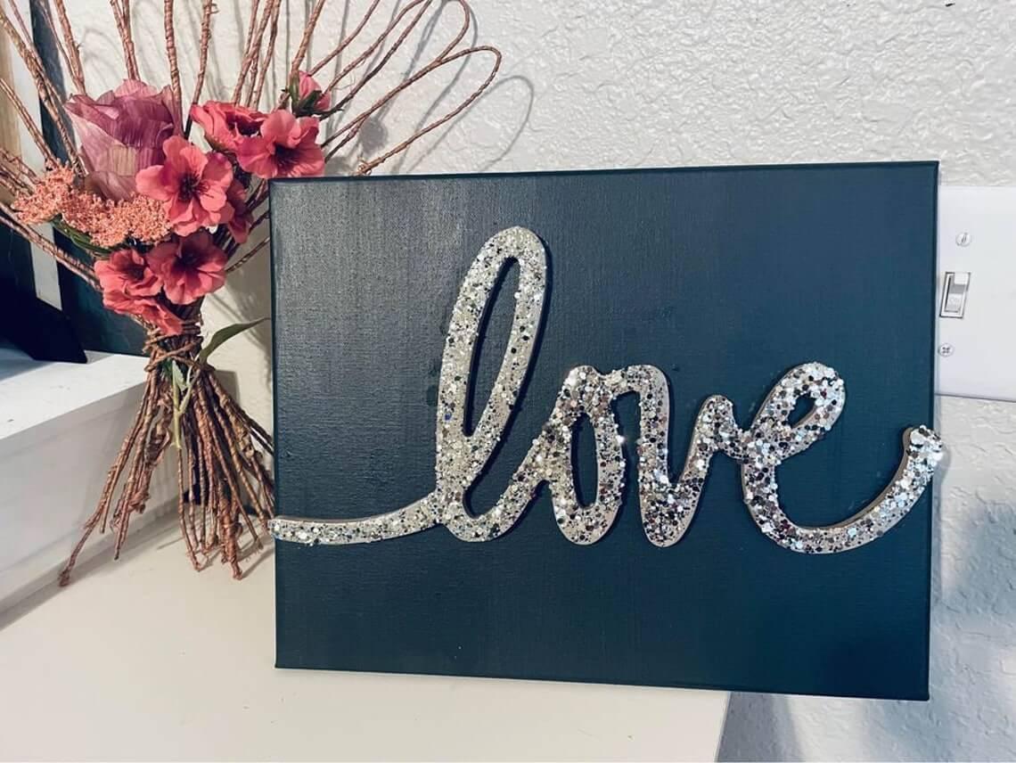 Glamorous Love Canvas Art Design