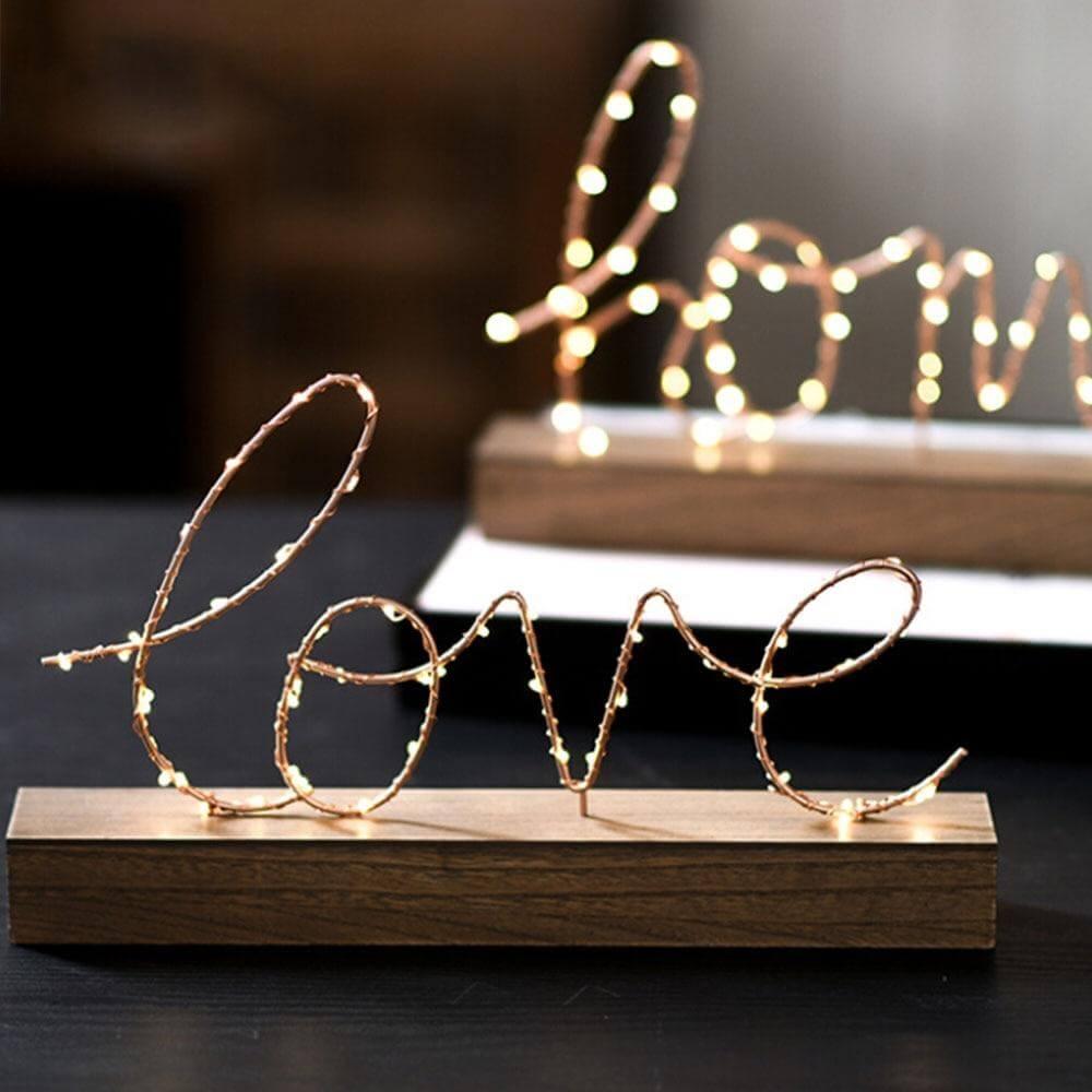 Decorative Figurines Ornaments LED Lamp Light
