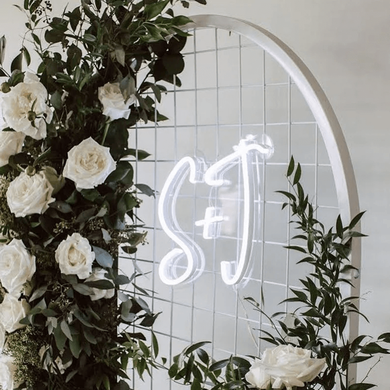 Custom Initial Newly Wed Neon Sign