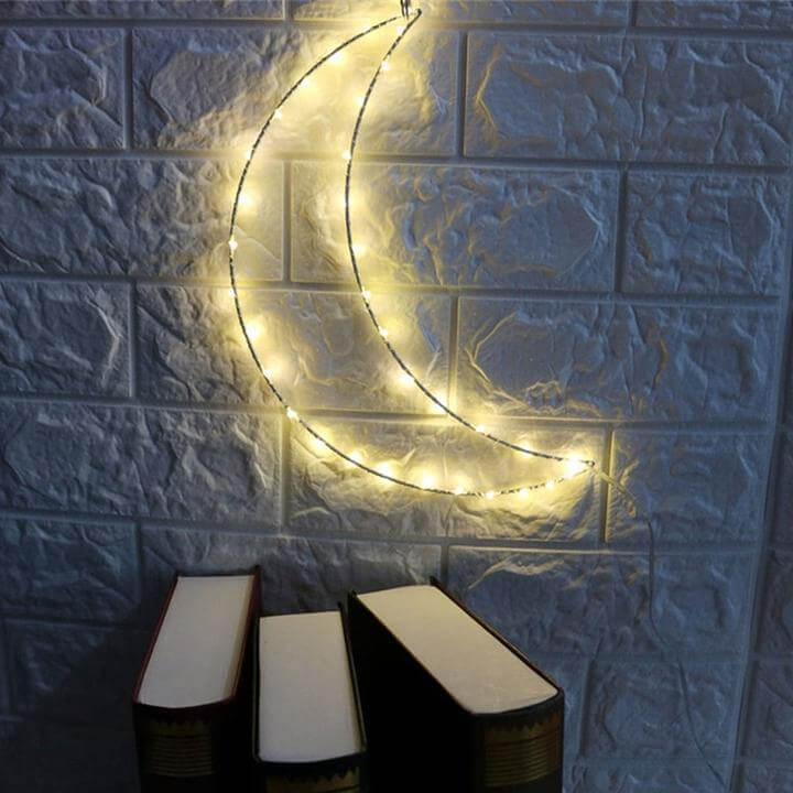 Stylish Crescent Moon Fairy Light