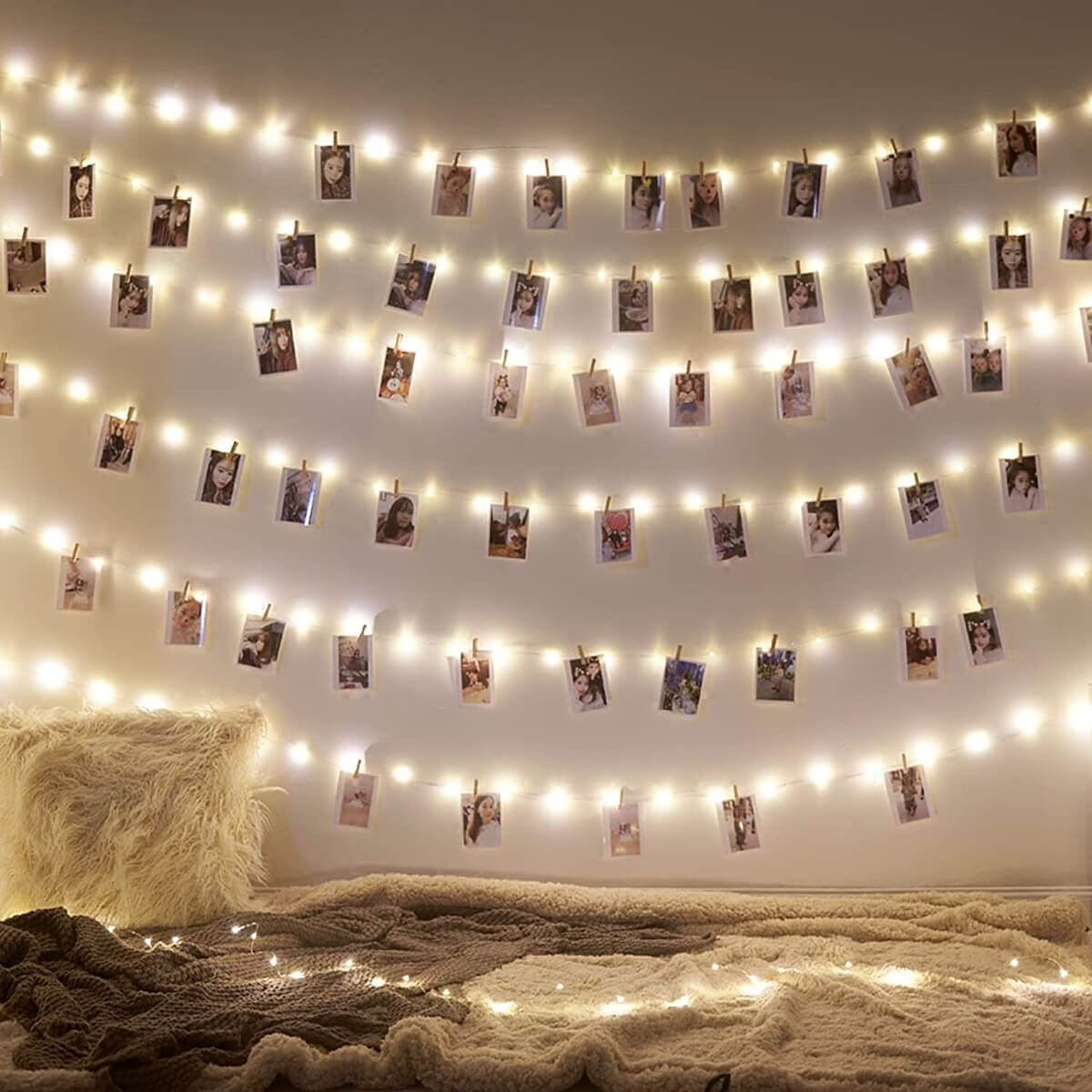 Whimsical Photo Clip String Lights