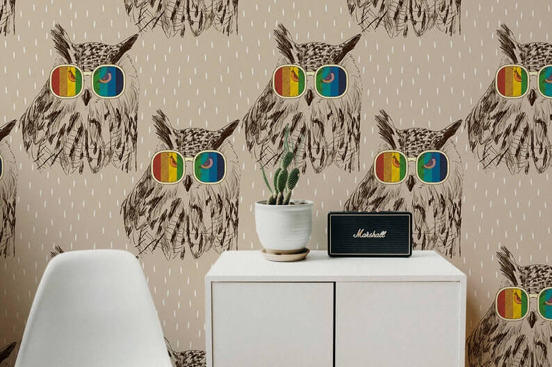 Too Cool to Give a Hoot Wallpaper