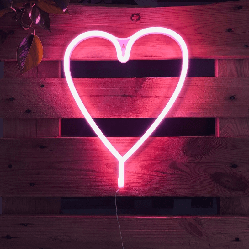 Perfect Valentine's Day Loving Neon Pink Heart
